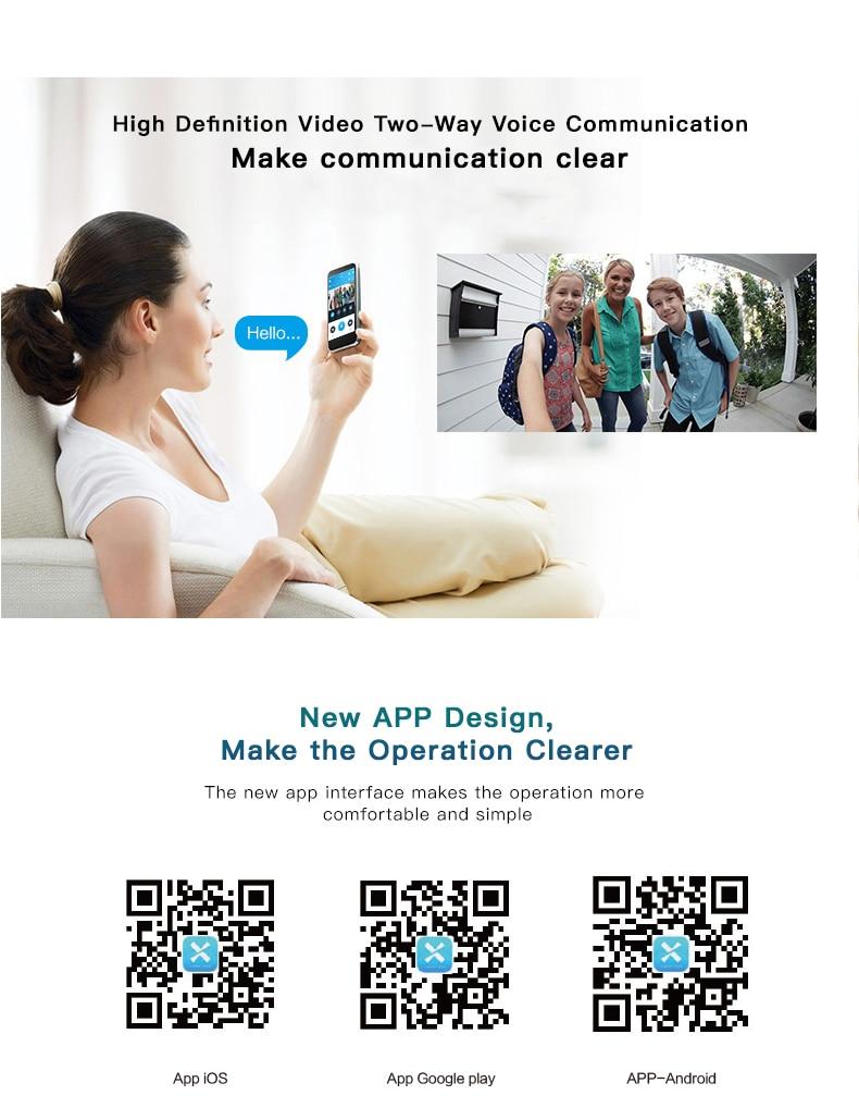 10 Wireless Doorbell Ring Chime Door Bell Video Camera WiFi IP 720P Waterproof IR Night Vision Two Way Audio
