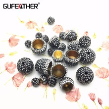 GUFEATHER M38/jewelry accessories/Copper Tassel cap/diy accessories/Drilling cap/jewelry materials/Tassel cap/diy jewelry(China)