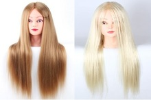 CAMMITEVER 2Pcs Blonde & Golden Hair Mannequin Heads Training Hairdressing Model Hairstyle Cosmetology Wholesale(China)
