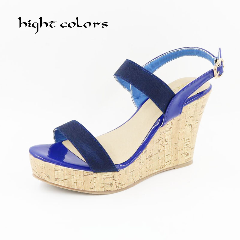 Women Shoes 2018 Summer New Open Toe Fish Head Fashion High Heels Wedge Sandals For Women Platform Shoes Zapatos Mujer Size 10.5<br>