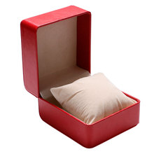 Red Display Case  Luxury Gift Box Storage  Fashion Leather Watch Box Pillow Foam Pad High Quality