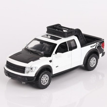 1/32 Ford Raptor F150 Pickup Truck Diecast Car Model Toys Pull Back Musial Sounds Flashing Alloy Car Model Electronic Toys l60