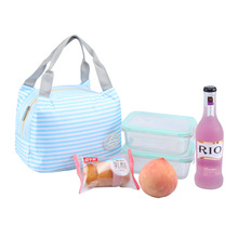 HAOCHU Peach Stripe Dot Cherry Print Student Lunch Box Keep Warm Baby Feeding Warmer Mummy HandBag Storage Ice Cool Picnic Bag