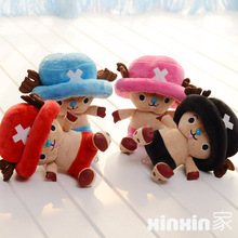 candice guo! super cute plush toy one piece chopper hat cloak small doll boys children birthday Christmas gift 20cm 1pc(China)