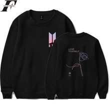 LUCKYFRIDAYF BTS Love Yourself Sweatshirt Women K-pop Hip Hop Hoodies Sweatshirts Fashion Sweatshirt Idol Clothes Harajuku 2017(China)