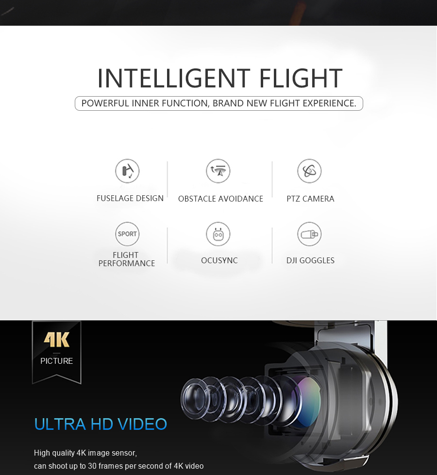 DJI Mavic Pro Platinum Fly More Combo & dji mavic pro quadcopter 12 mil. 4K HD Video Recording drone 7 KM Remote Control 30 mins_02