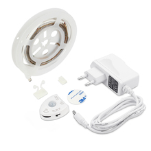 12V LED Strip 1.2M Motion Sensor Night Light Warm white Dimmable Bed Light with Automatic Turn Off Timer Cabinet Light(China)
