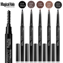 Magica Halo Automatic Eyebrow Pencil Eyebrow Makeup Shadow with Brushes Professional Black Grey Waterproof Eyebrow Pencil(China)