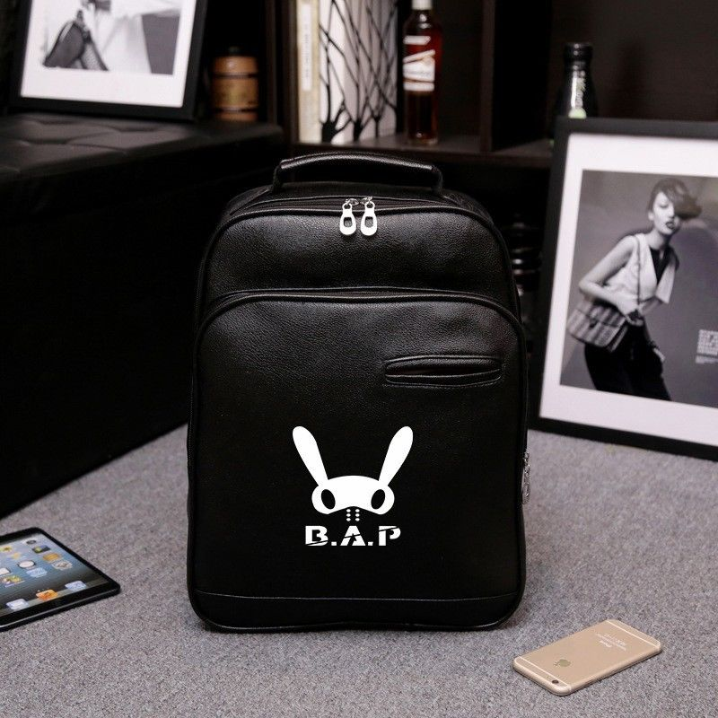 KPOP BAP BABY Kim Him Chan Leather School Bag Backpack B.A.P Fashion Fans Gift Collection N7061755<br>