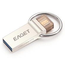 EAGET V90 OTG USB 3.0 64G 32G 16G Smart Phone Tablet PC USB Flash Drives  OTG External Storage Micro Pen Drive Memory Stick