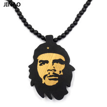 Jinao Che Guevara Wooden Bob Marley Note NY Mike Beads Necklaces Good Wood Jewelry Men Women Hip Hop Chain Pendant Necklace(China)