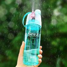 Newest Design Plastic Spray Water Bottle Sprayer Bottle Portable Gym Outdoor Cycling Sports Bottle Space Travel Water Bottle