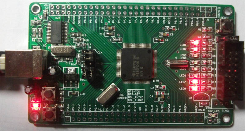 USB programming of MSP430FG4618 FG4617 FG4619 minimum system board development board USB interface