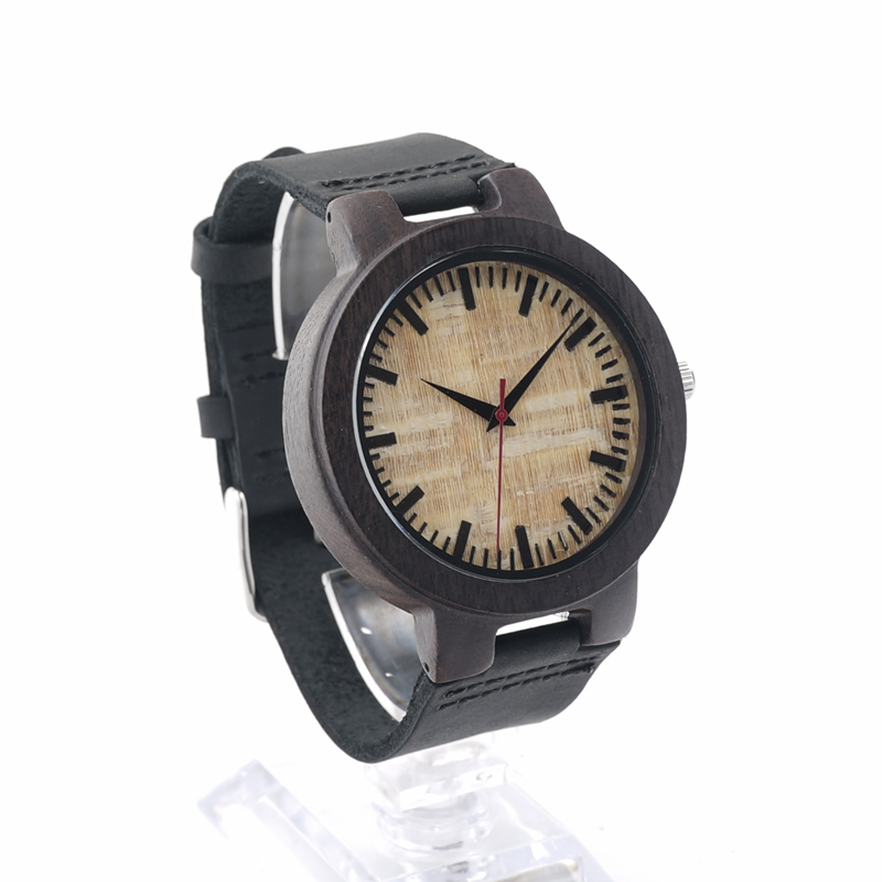 BOBO BIRD C023 Couples Brand Luxury Nature Ebony Wooden Watches With Real Leather Band Quartz Watch for Men in Gift Box Relogio<br><br>Aliexpress