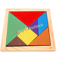 Jigsaw Puzzle Educational Wooden Toys Developmental Toy Large Wooden Tangram Brain Teaser Puzzles Children