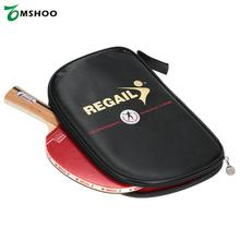Good Quality Wood + Rubber Table Tennis Racket Blade Paddle Bat Blade Shakehand Grip Racket with Container Bag(China)