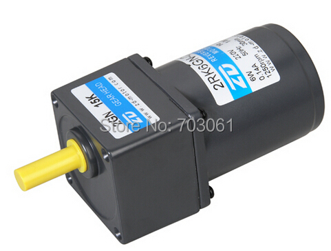 6W 60mm AC reversible gear motors 220V AC reversible motors Micro AC motors ratio 3:1<br>