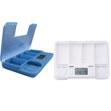 Patient Portable Intelligent Pill Case Timing Daily Reminder Alarm Splitters 4 Day Medicine Tablet Storage Container Case