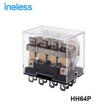 HH64P (3pcs/lot) electronic mini rele relay relais 24vac DC 12v 220v 48v 10A silver contacts with 14 pin