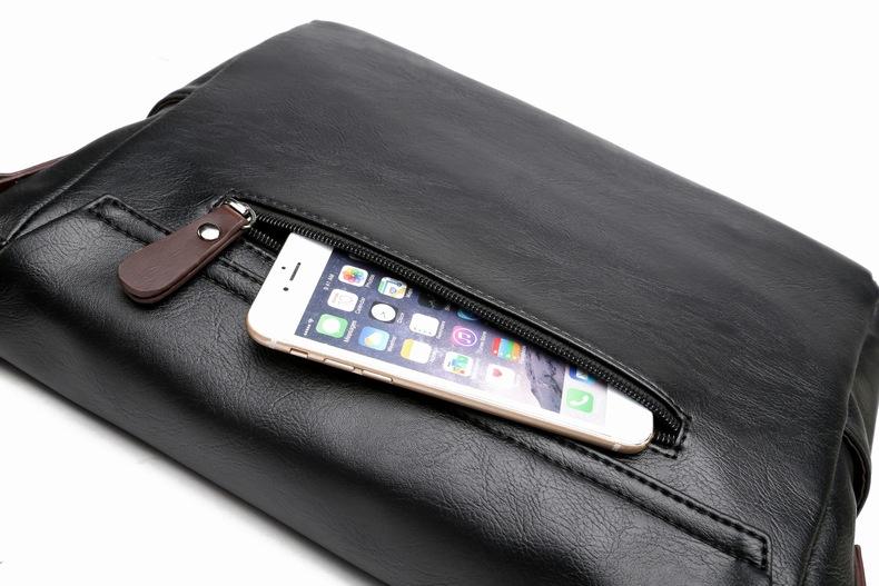 MJ Men\`s Bags Vintage PU Leather Male Messenger Bag High Quality Leather Crossbody Flap Bag Versatile Shoulder Handbag for Men (23)