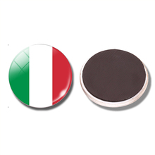 Italy Flag 30 MM Fridge Magnet Rome Milan Naples Torino Palermo Glass Dome Magnetic Refrigerator Stickers Note Holder Home Decor(China)