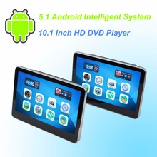 Car  Headrest DVD Player Android 5.1 HD 10.1 Inch Monitor HD Quad Core (4 Core)  WIFI Capacitive Touchscreen - One Pair