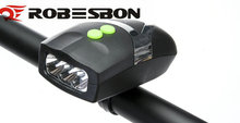 ROBENBON Multi - function bike headlights bicycle electronic horn bells LED bike front lights combined cycling equipment