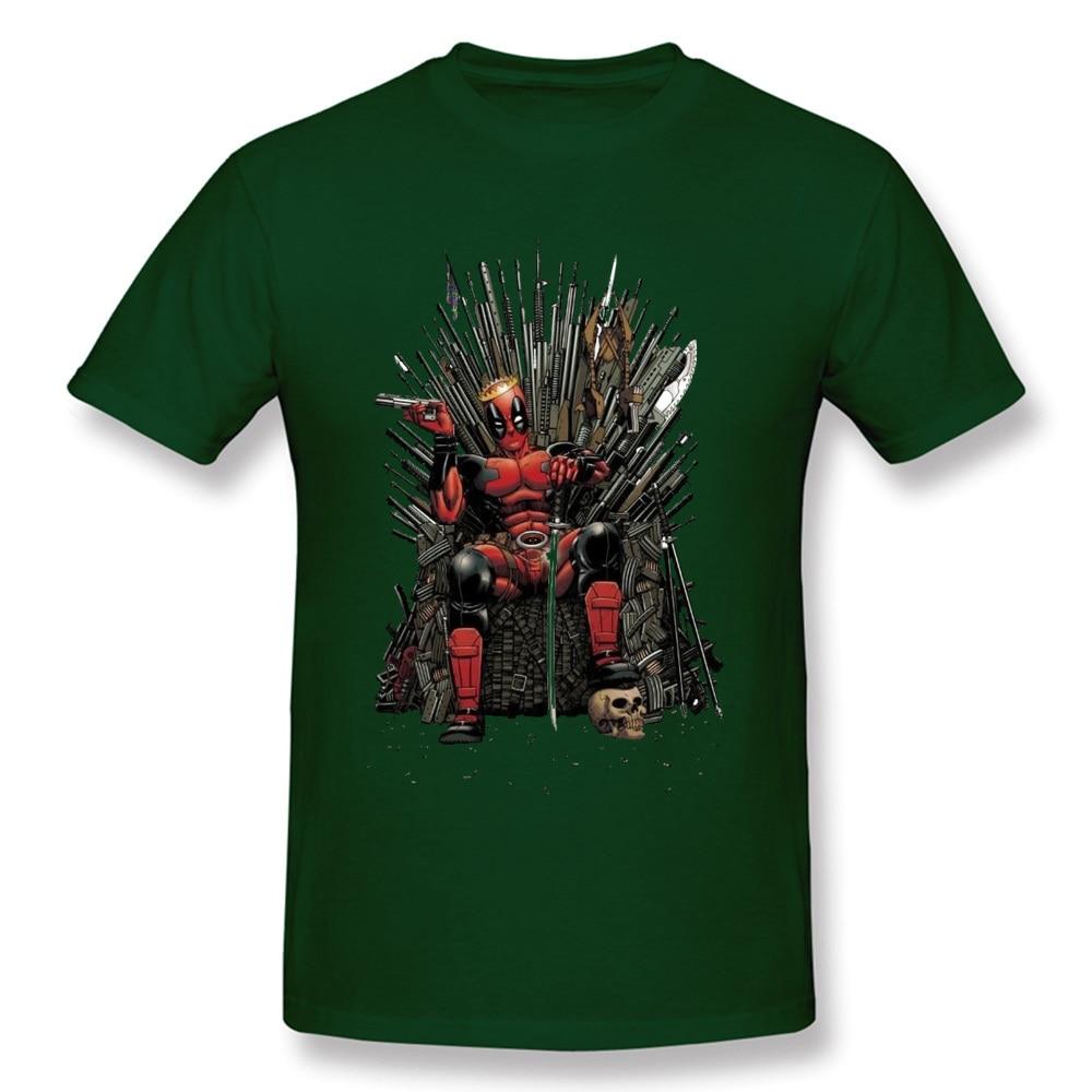 Cotton Male Short Sleeve Deadpool0612 T Shirt Printed On Tees High Quality Comics Round Collar T Shirt Wholesale Deadpool0612 dark