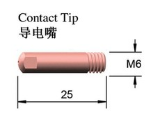 MB 15AK 0.8mm contact tips binzel cheap chinese mig expendable supplies mig/mag torch copper/brass 40PCS HIGH quality FREE post(China)