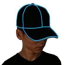 Luminous Cap EL Wire Fashion Neon LED Light Glow Rave Costume Party  Luminous Cap Fluorescent Dance 6cebbb8a5495