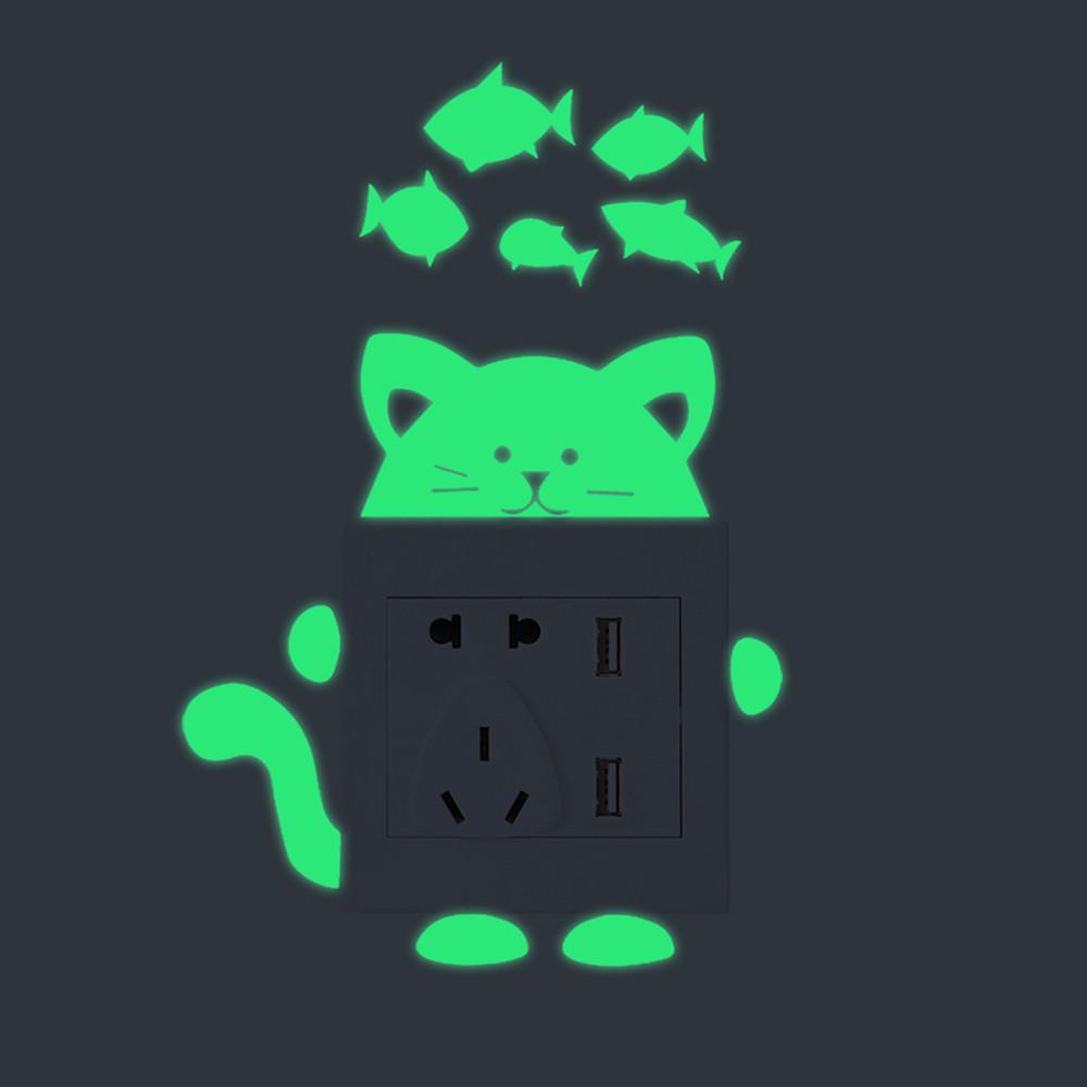 26 Styles Luminous Cartoon Switch Sticker Glow in the Dark Cat Sticker 26 Styles Luminous Cartoon Switch Sticker Glow in the Dark Cat Sticker HTB1EINYktrJ8KJjSspaq6xuKpXaQ