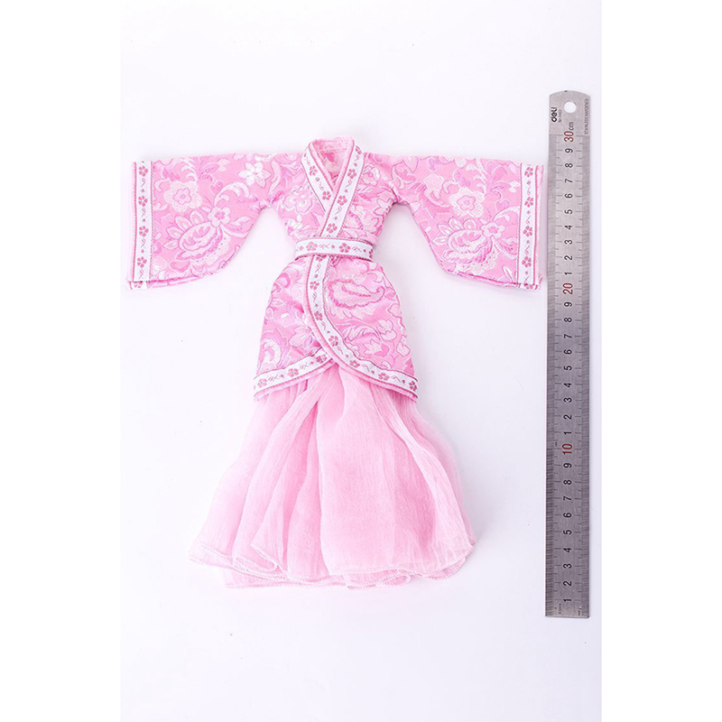 1/6 Scale VS050 Pink Ancient Clothing Han Dynasty Female Long Women Costume Dress Modesls For 12 Figure Accessories<br>