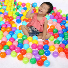 10PCS Soft Plastic Swim Pool Balls Pit Balls Ocean Wave Ball Baby Funny Toys Stress Air Ball Play Tents Toys PX40(China)