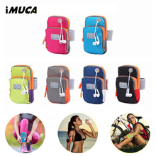 iMUCA Universal Sport Arm Band Case For iPhone 6 6s Waterproof Sport Running Phone Case For Apple iPhone 7 Plus Cover Pouch(China)