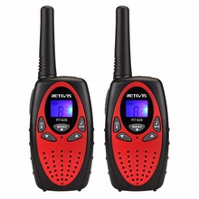 2pcs RETEVIS RT628 Children Walkie Talkie Kids 0.5W 8CH UHF 446MHz Europe Frequency Portable Ham Radio Hf Transceiver Red A1026D