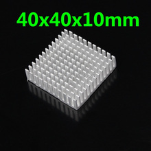 30Pieces lot Heat sink Aluminum Heatsink Cooler For Led Light Graphic card 40 x 40 x 10mm 40mm(China)