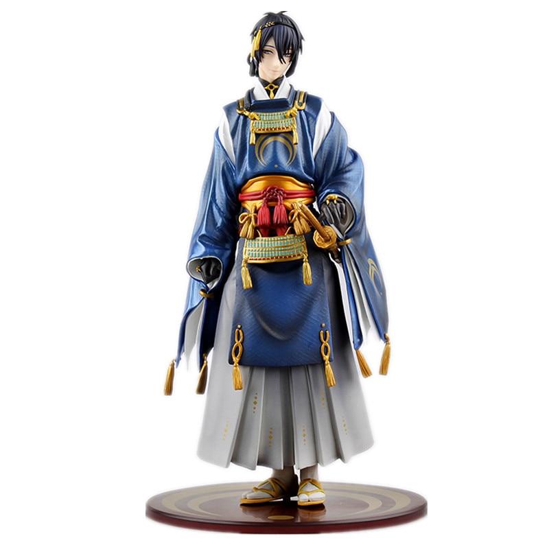 Japan Anime Figurine Touken Ranbu Online Mikazuki Munechika PVC Doll PVC Action Figure Model Toy 23cm<br><br>Aliexpress