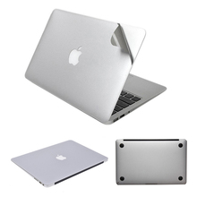 2016 NEW Silver Skins Full Body Sticker For MacBook Air Pro Retina 11 12 13 15 Guard Case Bottom Cover Surface Protective Film
