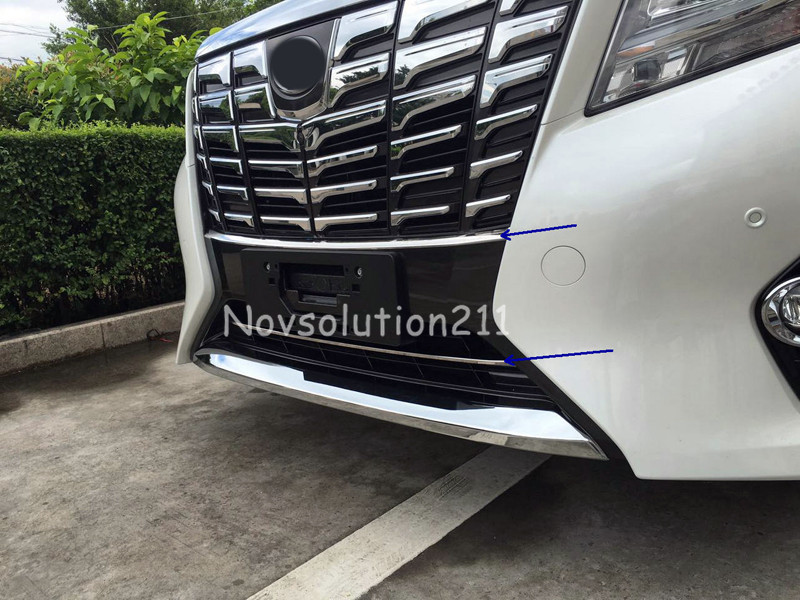 For Toyota Alphard 2016 2pcs Front Bottom Center Grill Grille Cover Trim<br><br>Aliexpress