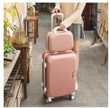"ABS+ PC  Women 20""24""26"" Inch Travel Luggage Trolley suitcase Cosmetic Suitcase Rolling Case On Wheels  Women Rolling Luggage"
