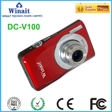 Good Selling 5x Optical Zoom 15mp Digital Compact Camera DC-V100 Fixed Focus Face&Smile Detection Fotografia Video Camcorder