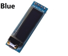 "NEW 0.91 inch OLED module 0.91"" blue OLED 128X32 OLED Display Module 0.91"" IIC Communicate 3.3v to 5v compatible for arduino(China)"