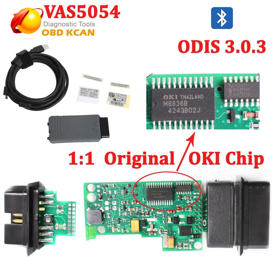 Original oki chip vas 5054a diagnostic scanner by usb bluetooth uds vas5054 odis v3