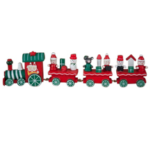 24.5*6*3cm Cute Charming Decoration Wooden & Musical Christmas Train Ornament Decor Children Toy Gift New FJ88(China)