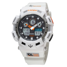 Pasnew SPORTS Watch, Dual Time Digital/Analog 100M waterproof Outdoor AWatches LED Display(China)