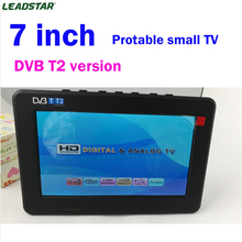 2017 New Televisions 7 Inch HD TV TFT LCD Color DVB-T2 Portable TV With Wide View Angle, Support SD/MMC Card, USB Flash Disk