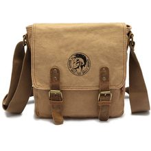 2016 Promotion High Quality Vintage Canvas Bag Men's Crossbody Bag Shoulder Messenger Bags Small Handbag Size:24*23*6 cm 3L