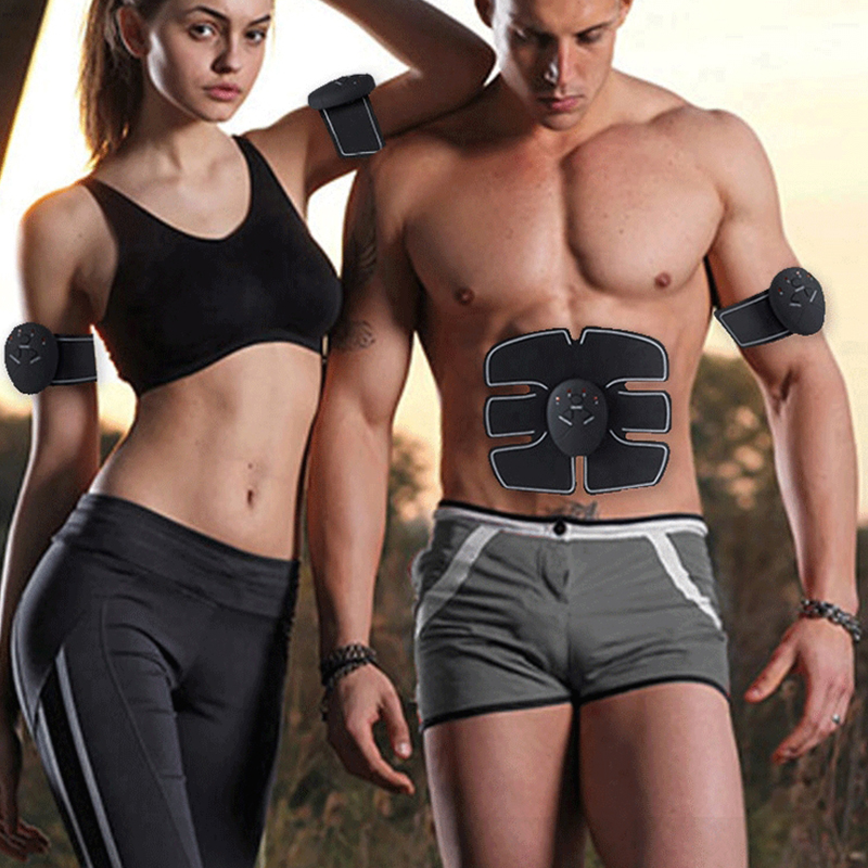 Kit Electric Muscle Stimulator 6 Pack Pad ABS Lifter Fit Body TraIner Machine US