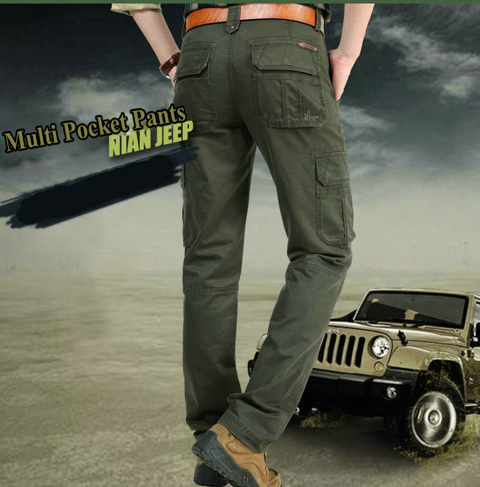 17 Brand Mens fashion Military Cargo Pants Multi-pockets Baggy Men Pants Casual Trousers Overalls Army Pants Joggers 2155 1