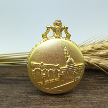 Embossed gold place Quartz Pocket Watch(China)